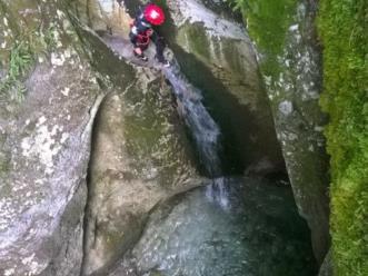Canyoning nel comune di Claut nella forra del Ciafurle